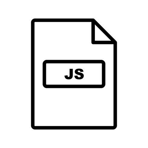 Ícone de vetor JS