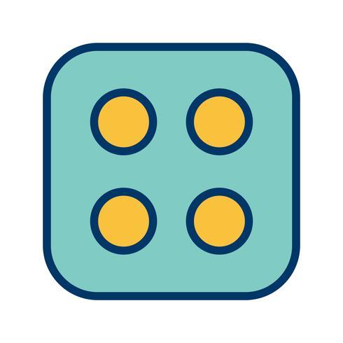 Dice Four Vector Icon