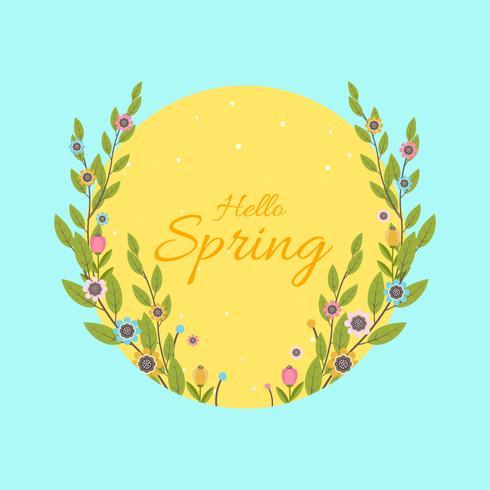 Primavera ilustração vetorial de fundo