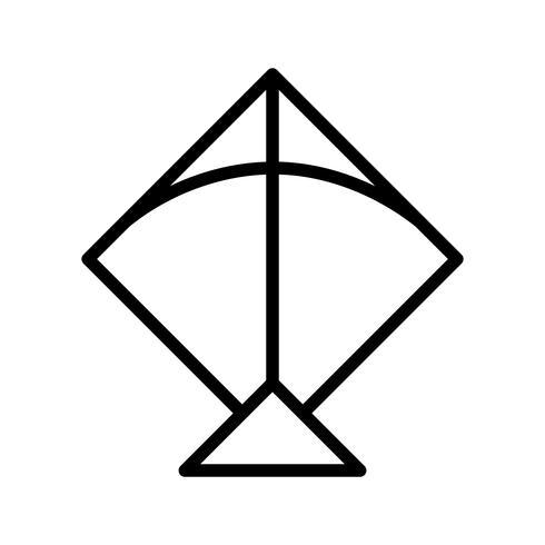 icona di vettore aquilone