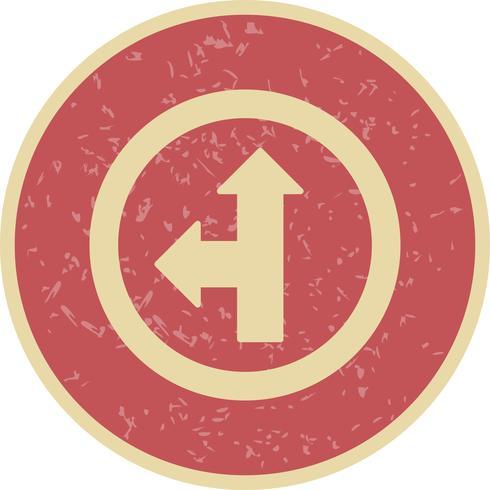 Vector ir em linha reta ou esquerda ícone