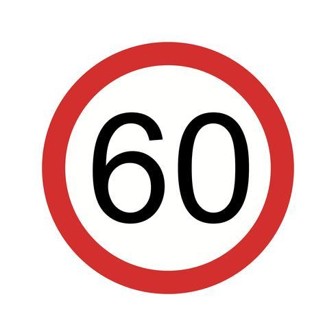 Limite de velocidade de vetor 60 ícone