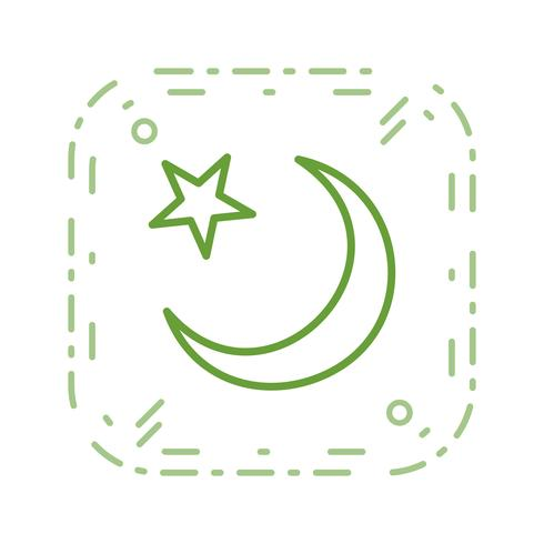 Crescent Moon Vector Icon