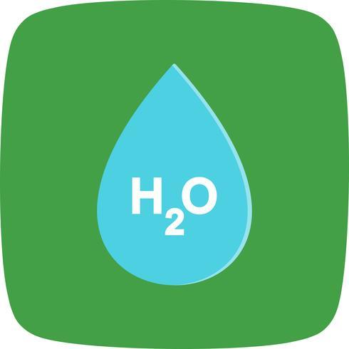 Ícone de vetor de H2O