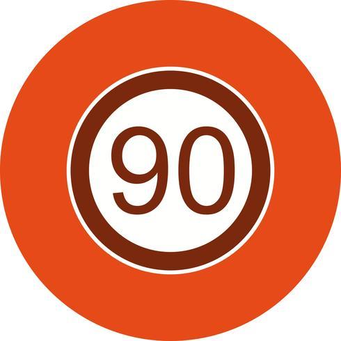 Vector Speed limit 90 Icon