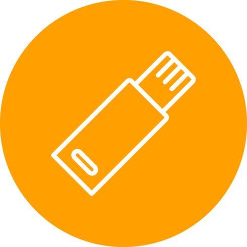 Ícone do vetor USB