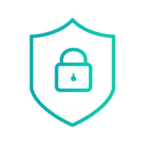 Ícone de vetor de proteção on-line