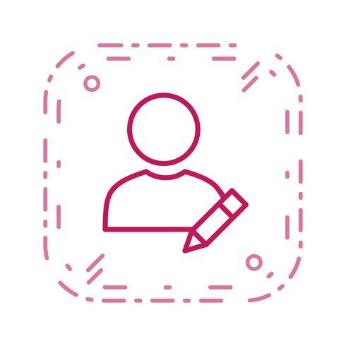 Modifica l'icona di vettore del profilo