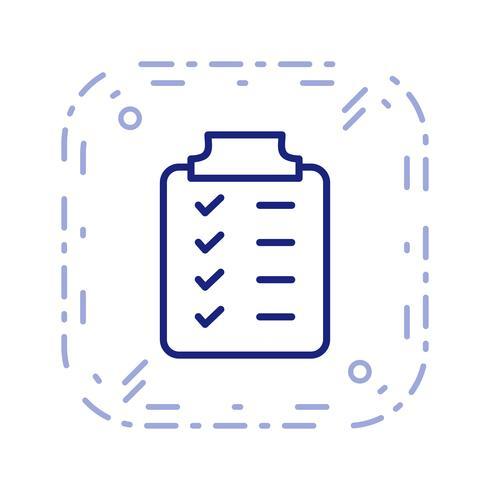 Ícone de planejamento de vetor