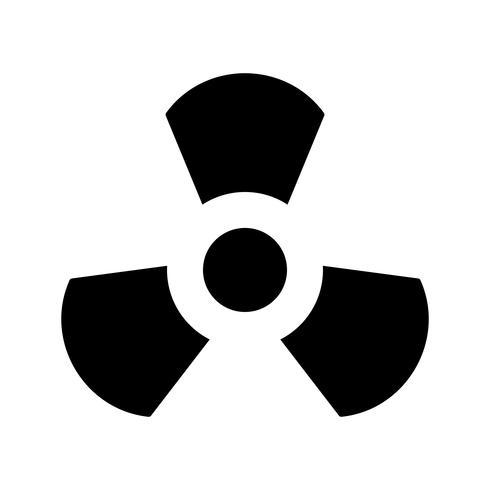 Icône de vecteur de rayonnement