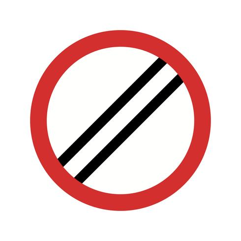 Vector limite de velocidade nacional aplica ícone
