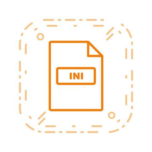 Ícone de vetor INI