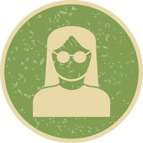 Ícone de vetor feminino cientista