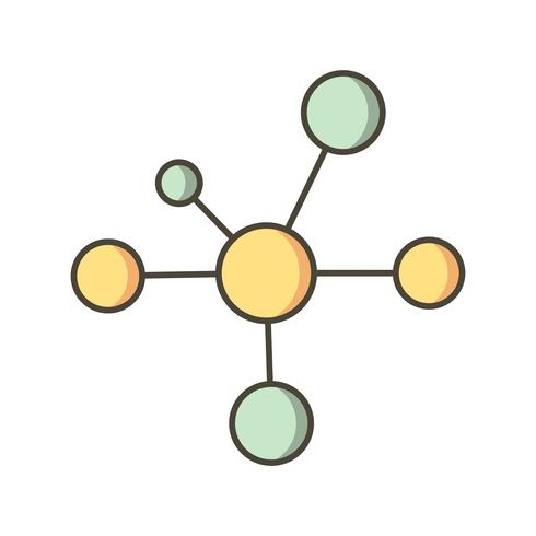 Ícone de vetor de elétron
