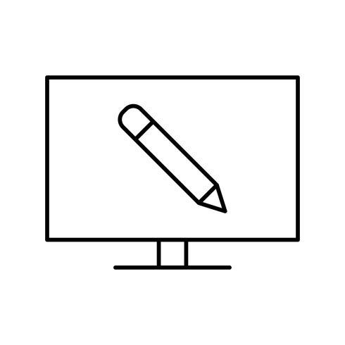 Icona di vettore di formazione online