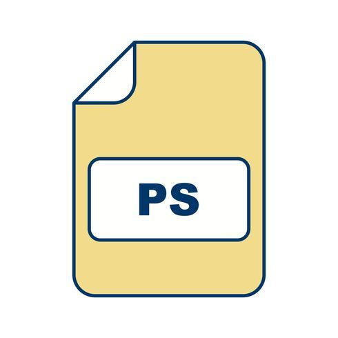 Ícone de vetor de PS
