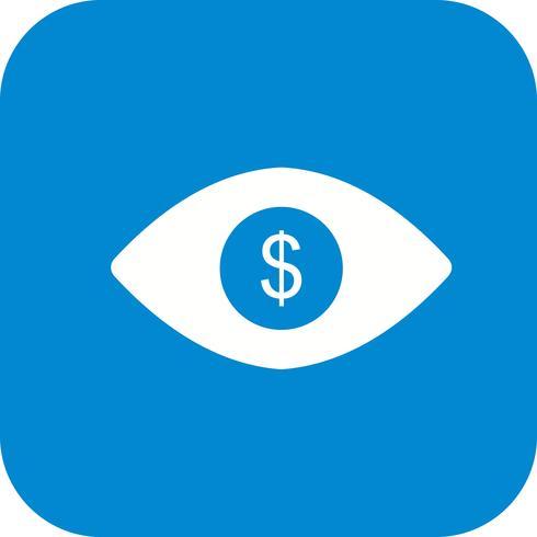Olho, dólar, vetorial, ícone