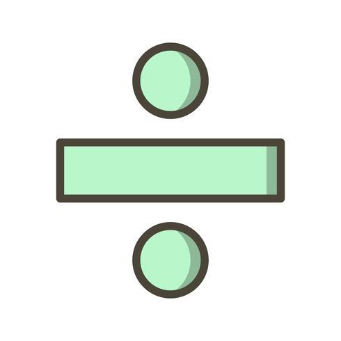 Dividere l'icona vettoriale