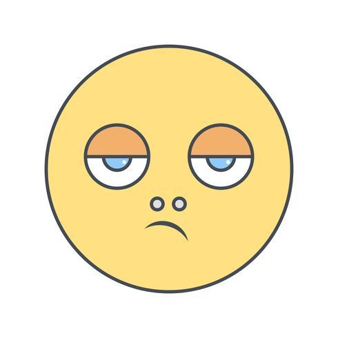 Ícone de vetor de emoji desapontado