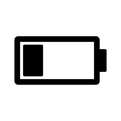 Lage batterij Vector pictogram