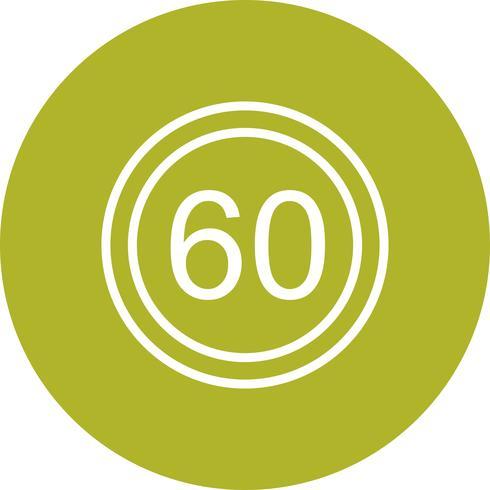 Vector icono de límite de velocidad 60