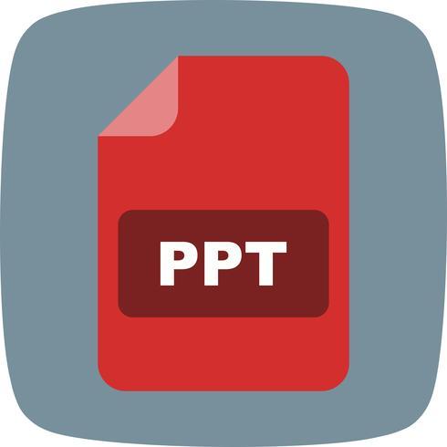 Ícone de vetor de PPT