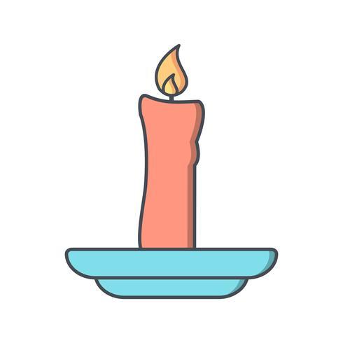 Ícone de vetor de vela