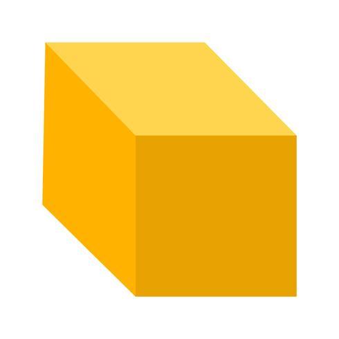 Ícone de vetor de cubo
