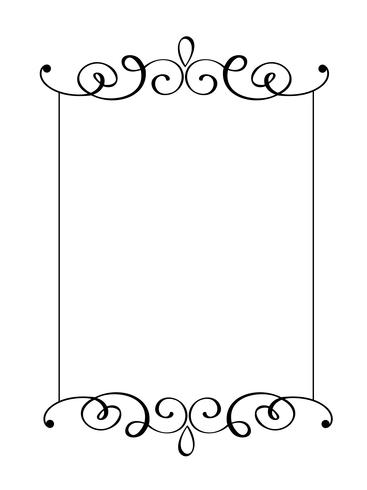 Vintage vector decorative hand drawn frame and borders. Design illustration for book, greeting card, wedding, print, menu