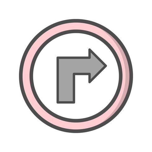 Vektor Vänd till höger ikon