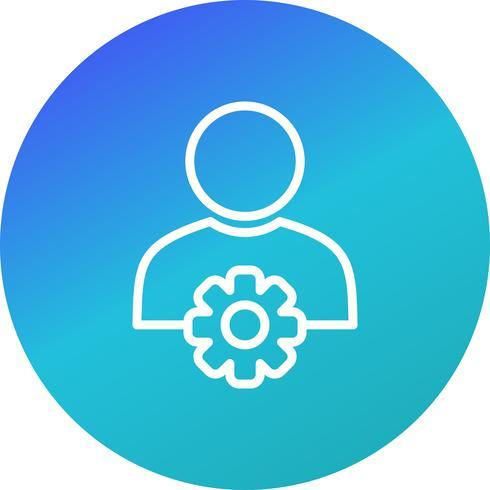 Icono de Vector de gestión de usuario