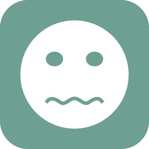 Nervous Emoji Vector Icon