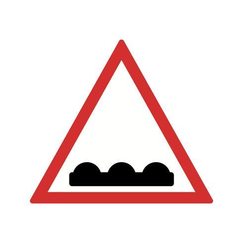 Vector estrada irregular ícone
