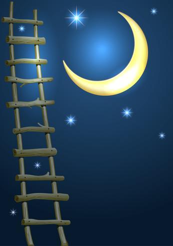 Illustration för saga kort och täcka med en halvmåne