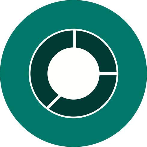 Kreisdiagramm-Vektor-Symbol