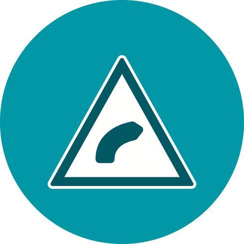 Ícone de curva direita do vetor