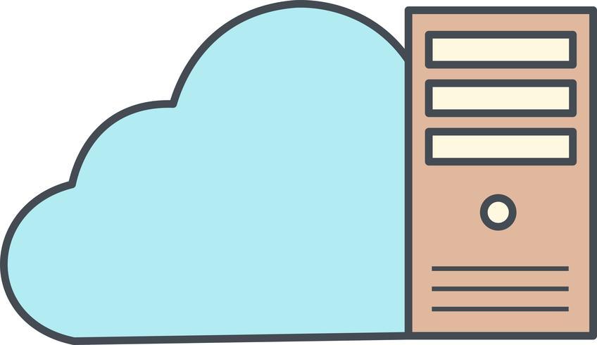 icône de vecteur de données de nuage