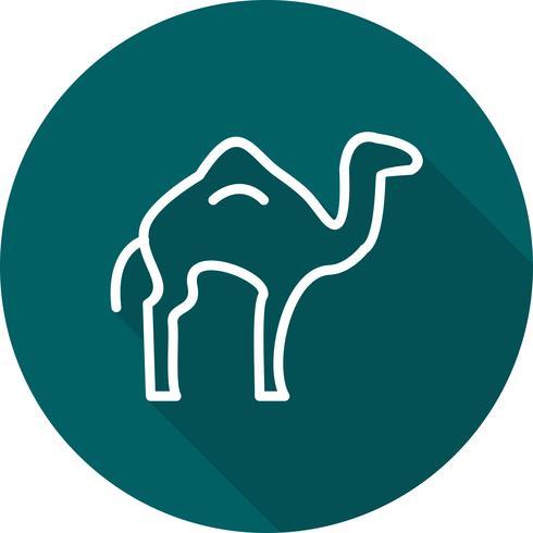 Icono de vector de camello
