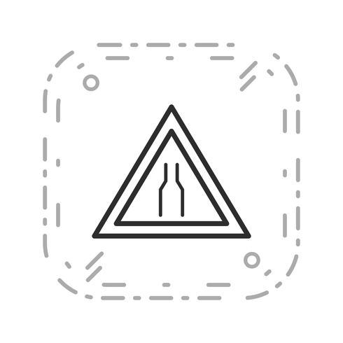 Estrada estreita de vetor ícone