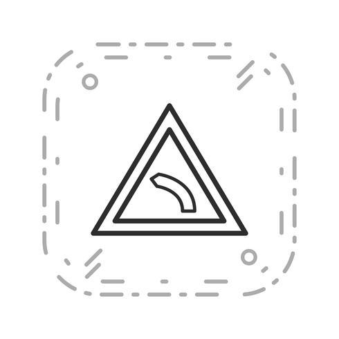 Vector icono de curva izquierda