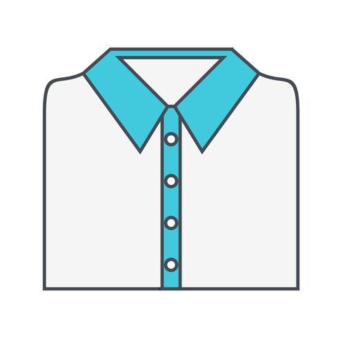 Skolan skjorta vektor ikon