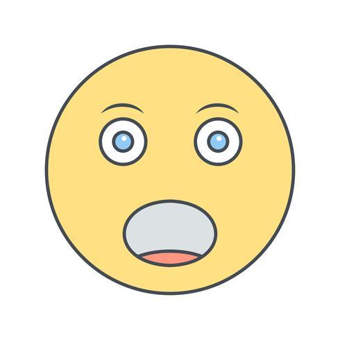 Schreeuwen Emoji Vector Icon