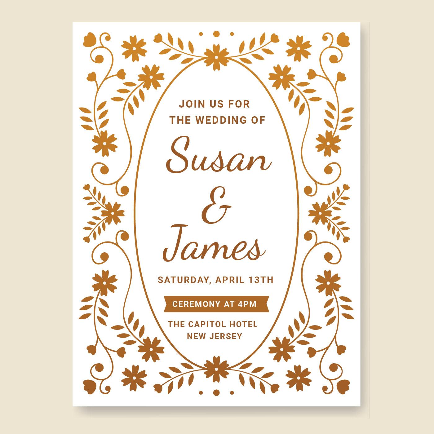 wedding invitation card vector  download free vectors