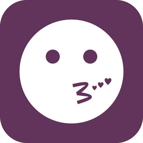 Kiss Emoji Vector Icon