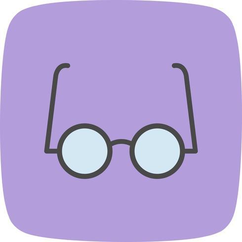 Ícone de vetor de óculos experimental