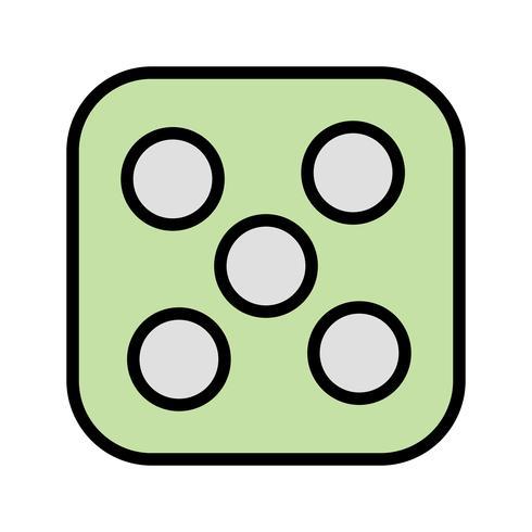 Dados cinco vectores icono