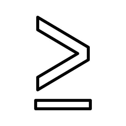 """""""Supérieur ou égal à"""" Vector Icon"""
