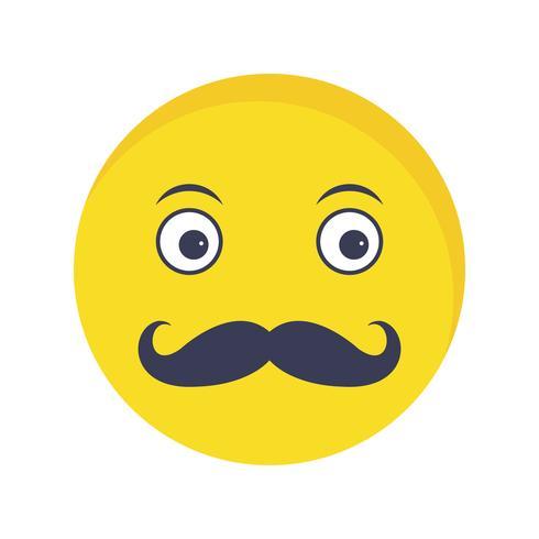 Schnurrbart Emoji-Vektor-Symbol