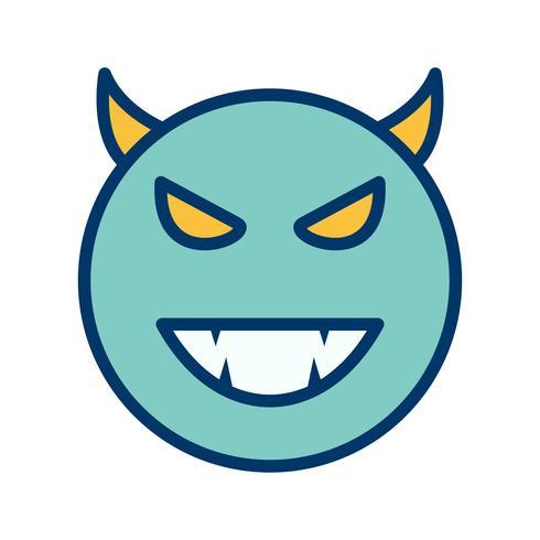 Diablo Emoji Vector Icon