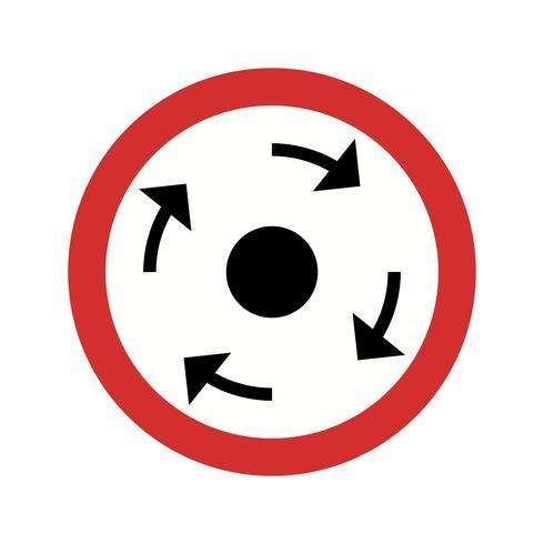 Icône de rond-point obligatoire de vecteur